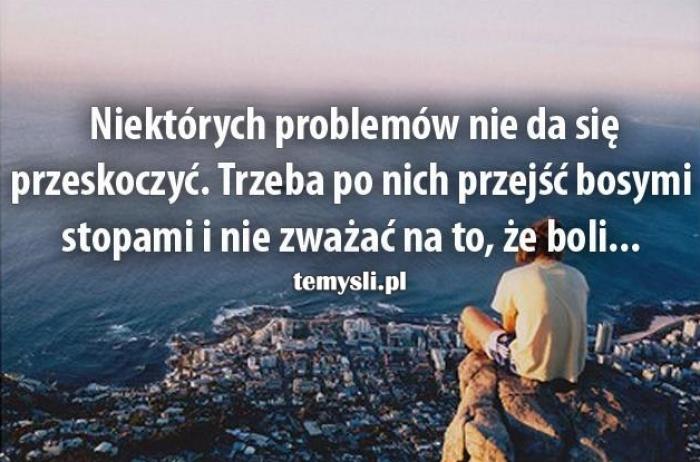 Niektórych problemów nie da się przeskoczyć..