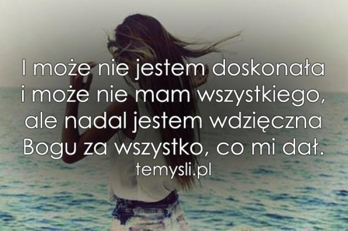 I może nie jestem doskonała..