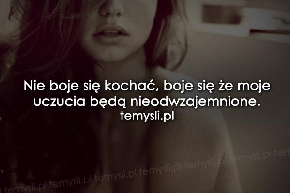Nie boje się kochać...