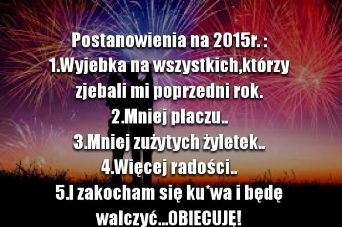 postanowienia na rok 2015