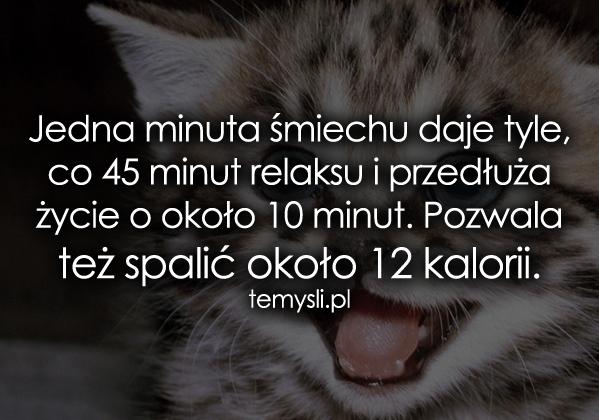 Jedna minuta śmiechu daje tyle, co 45 minut..