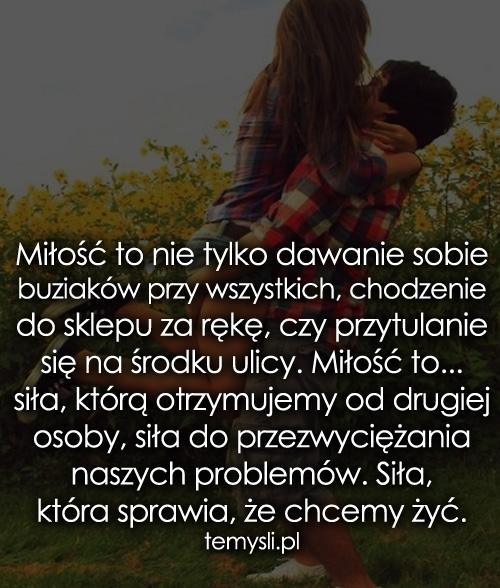Miłość to nie tylko dawanie sobie buziaków...