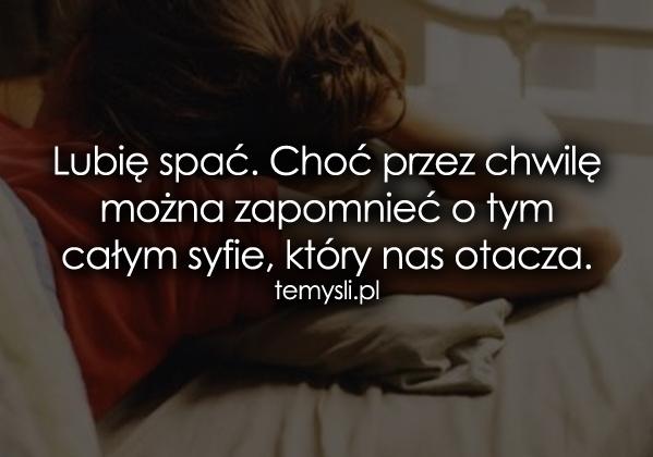 Lubię spać...