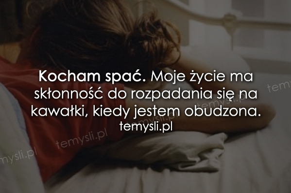 Kocham spać...