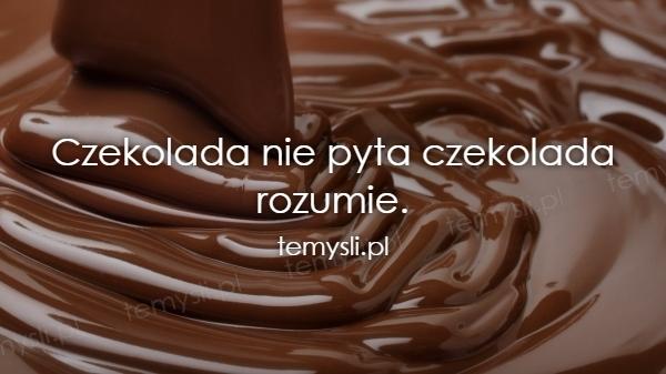 Znalezione obrazy dla zapytania czekolada nie pyta, czekolada rozumie