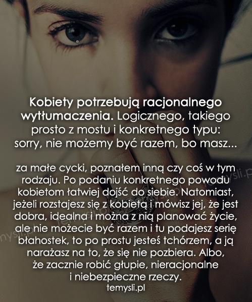 Kobiety potrzebują racjonalnego wytłumaczenia...
