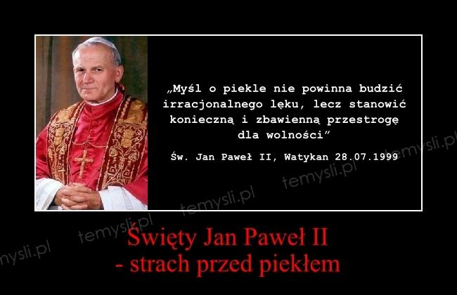 święty Jan Paweł Ii Strach Przed Piekłem