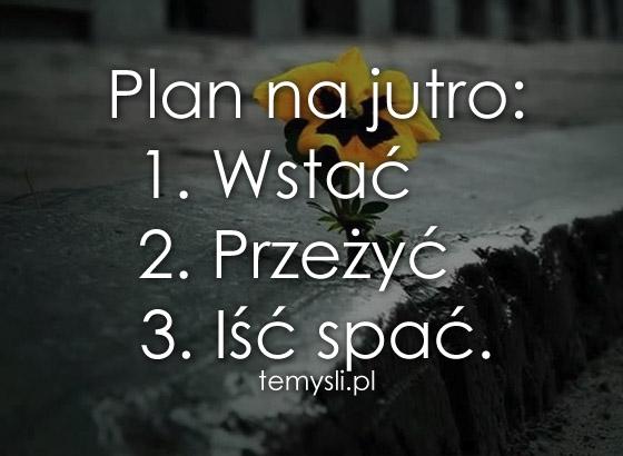 Plan na jutro: