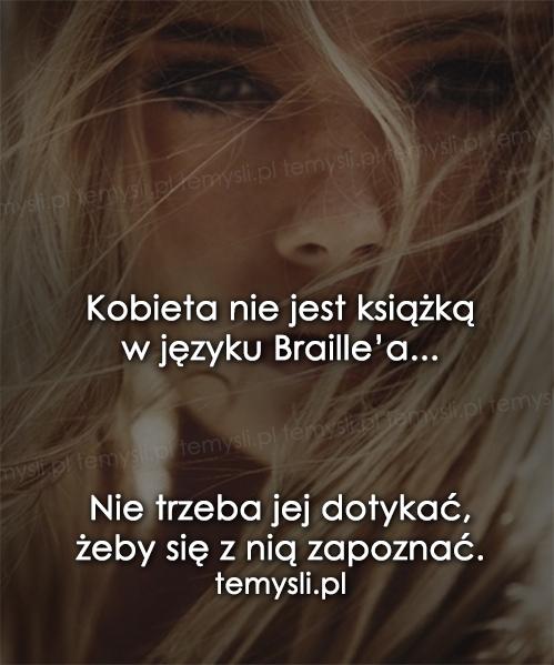 Kobieta nie jest książką...