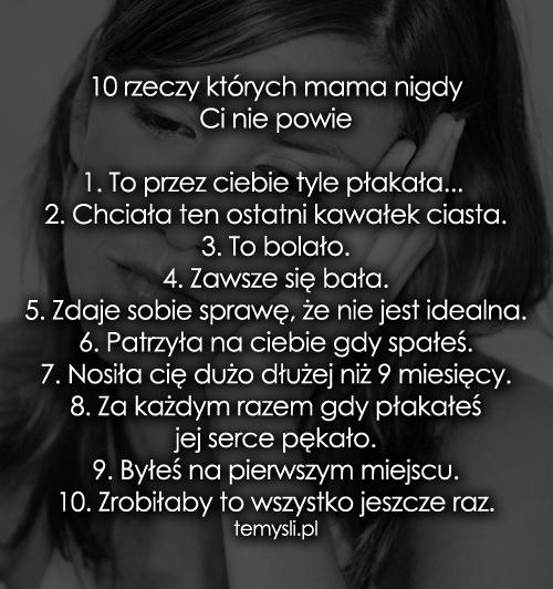 cytaty o mamie moja mama   TeMysli.pl   Inspirujące myśli, cytaty, demotywatory  cytaty o mamie