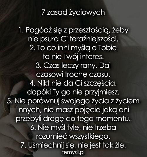 7 zasad życiowych