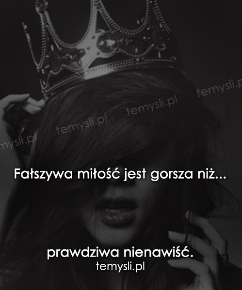Fałszywa miłość...