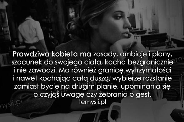 Prawdziwa kobieta ma zasady...