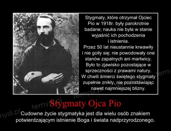 Stygmaty Ojca Pio