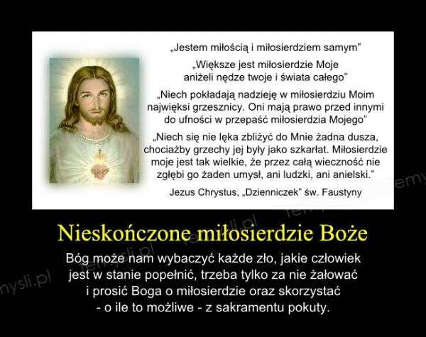 Nieskończone miłosierdzie Boże