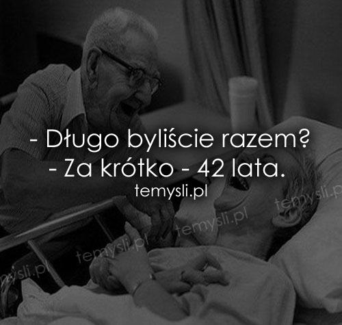- Długo byliście razem?