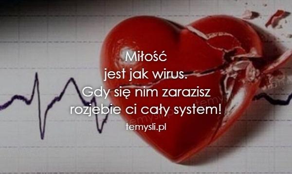 Miłość jest jak wirus. Gdy się nim zarazisz rozjebie ci cały