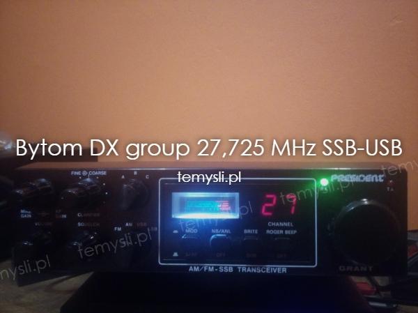 Bytom DX group 27,725 MHz SSB-USB