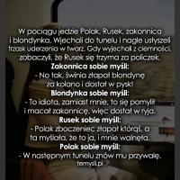 W pociągu jedzie Polak, Rusek, zakonnica...