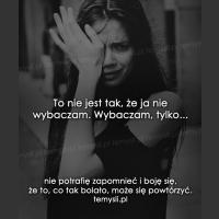 To nie jest tak, że ja nie wybaczam...