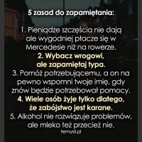 5 zasad do zapamiętania: